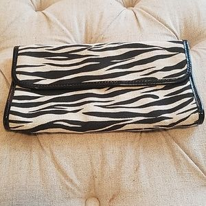 Banana Republic Zebra Clutch Handbag